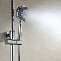 Wholesale 4 quot Round Function Handheld Shower Head Plastic Chromed Shower Faucets