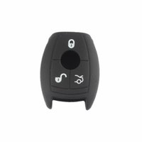 b w case - Silicone Car Key Cover Case Holder Shell W Remote Buttons Logo Hole For Mercedes Benz Benz B C E S R Class GLK260 BenC01