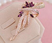 Wholesale High Quality Flower Women Wedding Brooches Crystal Accessories Alloy Fashion Rhinestone Bridal Jewelry Best Sale Pins For Party WX