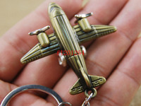 airplane key chain - 50pcs Fedex DHL Newest Fashion Airplane Key Ring Chain Keychain Colors R02