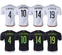 Wholesale Whosales Camisa Mexico Soccer Jerseys Mexico Jersey Mexico CHICHARITO G DOS SANTOS Custom Football Shirt A Quality