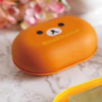 bathroom pass - banheiro bathroom accessories prato Brown bears pass easily bear Soap dish with lid rilakkuma jabonera base