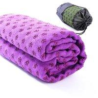 assorted towels - New Microfiber Plum shaped Skid Particles Yoga Mat Towels Color Assorted