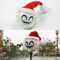 Wholesale Universal Car Styling Father Christmas Antenna Topper Ball Aerial Decoration Vehicle Roof Exterior Interior Accessories