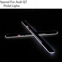 audi pedal covers - For Audi Q7 Car Styling LED pedal light pathway light Moving Door Scuff Door Sill Plate Cover Side Step Led DRL lamp