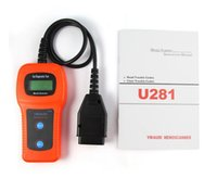Wholesale U281 CAN Code Reader Auto Scanner Multifunctional Code Card Reader Scanner Motor Diagnostic Tool Car Repairing Instrument DHL FREE