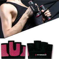 Wholesale Fitness fingers sport glove Weight lifting corssfit exercise Fittergear support Woman gym training fitfour palm protect