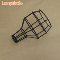 Wholesale Classic Black Nordic Industrial Lamp E27 lampshade bulb cage for vintage light pendant light wall light DIY lampshade order lt no track