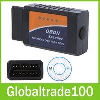 Wholesale 5pcs ELM Bluetooth ELM327 OBDII OBD2 V2 Vehicle Diagnostic Scanner Tool Reader Works On Android