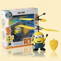 action rc electronics - Despicable ME Fly Toy RC Helicopter Remote Control Toys UFO Alien Magic Flying New Electronic Toys Action Toy Figures