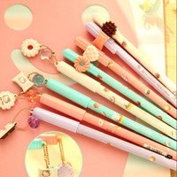 Wholesale 8 cookiecat pendant gel pen cute pens kawaii stationery canetas escolar material school office supplies