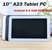 Wholesale 10 Inch Dual Core A23 Tablet PC Android GB ROM GB RAM Dual Camera Support WIFI Bluetoot OTG Allwinner A23 Cheaper Tablets