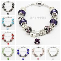 Wholesale DHL FREE Silver Field of Daisies Murano Glass Crystal European Charm Beads Fits European Style Bracelets