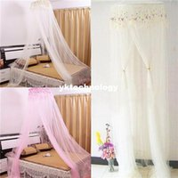 Wholesale Embroidered Dome Mosquito Net Hang Mosquito Netting Classic Palace Bug Fly Netting Mesh Lace For Bedroom Double Bed