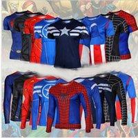 under-armour - 50pcs Marvel Super Heroes Avenger Captain America Batman sport T shirt Men Compression Armour Base Layer Thermal Under Causal Shirt