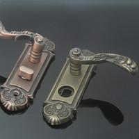Wholesale Handle Lock zinc alloy red bronze bedroom door interior wooden door upscale villa full copper cylinder locks
