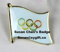 Wholesale OLYMPIC Metal Flag Badge Flag Pin