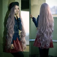 Wholesale Womens Lady Long Curly Wavy Hair Full Wigs Cosplay Party Anime Lolita Wig cm