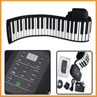 Wholesale Brand New Keys Piano Silicone Flexible Roll Up Piano Foldable Keyboard Hand rolling Piano with Battery Sustain Pedal US Plug