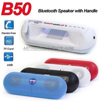 Wholesale B50 Pill XL Speaker Protable Wireless Bluetooth Mini Stereo Handsfree Music Sound Box With Handle for Tablet iPhone Plus S6 HTC MP3 Player