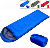 Wholesale EMS Free Ship Spring Envelope Style Cotton Filling Sleeping Bag Hiking Camping Sleeping Bags