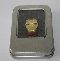 Marque OEM Iron Man Head USB stick 16 Go 32 Go 64 Go USB Flash Drive USB 2.0 lecteur USB 12 mois warrany