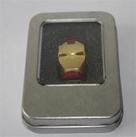 OEM marque Iron man tête Clé USB 16 Go 32 Go 64 Go USB Flash Drive USB 2.0 clé USB 12 mois de garantie