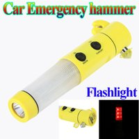 Wholesale Hot Sale in Emergency Safety Car Hammer Auto LED Torch Flashlight Hammer dropshipping