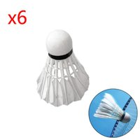 Wholesale 6 Duck Feather Shuttlecocks shuttlecock Birdies White Badminton Ball Game Sports Training Fast delviery