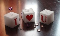 Wholesale I heart U candlestick valentine heart love candles do European romantic wedding wedding ideas