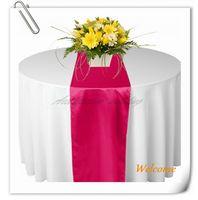 ball runners - New Fuchsia Hot Pink Fuschia Magenta quot x108 quot Satin Table Runners Wedding Party Ball Supply Adornment