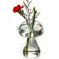 bamboo home bar - Mushroom Shape Glass Plant Flower Vase Hydroponic Container Bar Party Home Wedding Decor Birthday Gift