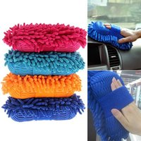 Wholesale 2015 New Ultrafine Fiber Chenille Anthozoan Car Wash Washer Supplies Washing Cleaning Glove VEN Christmas Gift LN6