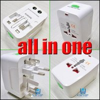 Wholesale All In One Adapter Travel AC Power Socket Plug Adapter Convertor US EU AU UK To Universal World Charger all in one