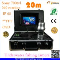 underwater fishing camera - HD Underwater Fishing Camera sony TFT TVL IP68 fish finder camera m cable Power supply OSD freeshipping