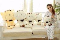 achat en gros de peluche chat souriant-45cm * 28cm 60cm X 35cm 80cm * 45cm jouets en peluche belle gros chat visage bourré sourire chat cadeau parfait pour les filles et les jeunes filles