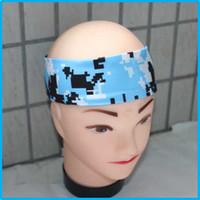 Wholesale Old School Elastic Headbands Youth Mini Headband sports camo headband for girls and boy Any movement