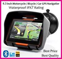 Wholesale inch motorcycle GPS Navigation waterproof GB internal memroy Bluetooth MAPs