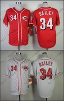 bailey baseball - 2015 all star Patch sewn on Homer Bailey Jersey Red White Cincinnati Reds Cool Base