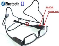 Wholesale 2015 Good price and best quality Wireless Bluetooth Glasses without Spy Earpiece HK Post Black
