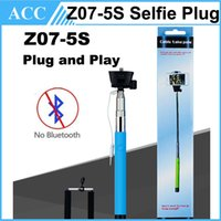 Wholesale Portable Z07 s Audio Cable Wired Selfie Stick Extendable Handheld Monopod Plug Play Cable Take Pole Wired for SAMSUNG IPHONE Smart Phone