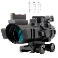 Wholesale Tactical X32 Rifle Scope Fiber Sight illuminated Chevron Range Recticle VE656 W1 SUP5