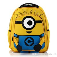 Wholesale 10PCS LJJH575 Despicable Me children cartoon Minion child minions bag backpack for kids children school bags for students schoolbag