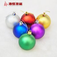 acrylic matte medium - Factory Hong Kong Hang Christmas decorations cm cm Matte mixed six color Christmas balls arranged Christmas gifts Christmas gif