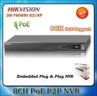 Precio de Tercero-HIKVISION NVR DS-7608NI-E2 / 8P Mejor Grabadora de Video en Red 5 Megapíxeles Resolución Grabación Cámaras de Red de Terceros Soportadas