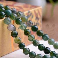 Approx.40cm/Pack 6mm 8mm 10 mm redondo Verde Onyx acuáticos naturales ágata granos Semi piedra preciosa joyería bricolaje accesorios F1605