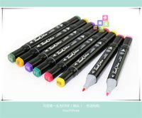 Wholesale 168 Colors three Twin Art Markers Pen Fine Dual Heads Marking Pen Marker Paint Pens with Free black Bag