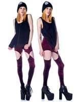 Cheap Free shipping fashion wine red sexy geometric flannel garter legging pants patchwork pants leggings