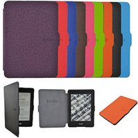 amazon kindle touch case - Luxury Ultra Slim PU Leather Smart Magnetic Ebook Cover Case Cover For Amazon Kindle Paperwhite Touch Black