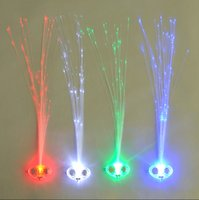 bar items - 1200pcs LED Light Hair Flashing Hairpin tire color fiber Luminous braid Party Festival Bar Party Fun items